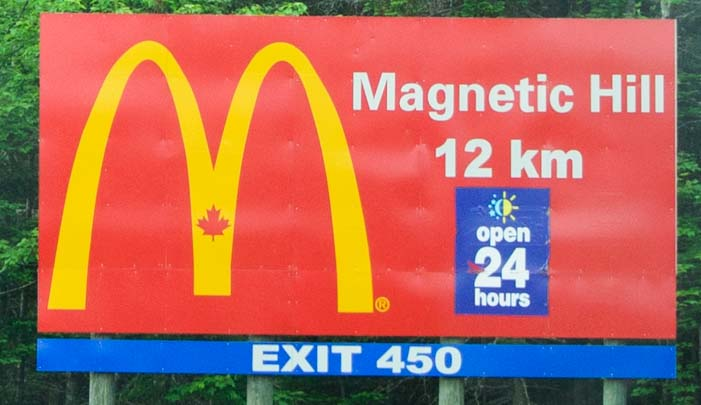 McDonalds Road Sign Maple Leaf New Brunswick Canada