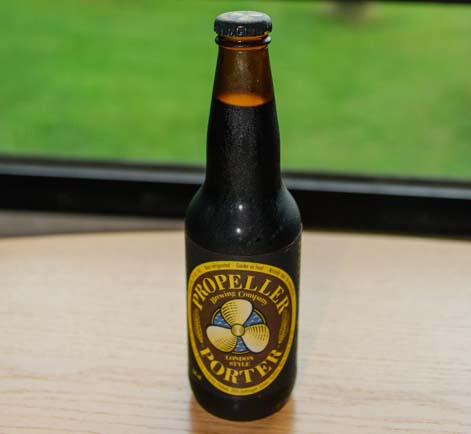 Propeller Porter Beer in Nova Scotia Canada