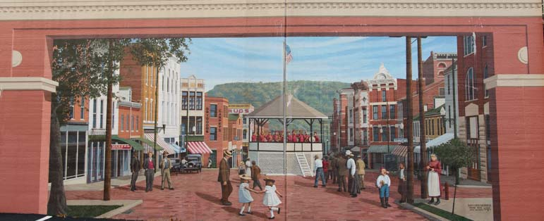 Maysville Kentucky Flood Wall Mural Art