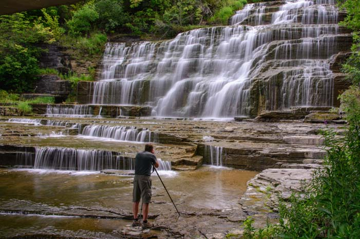 Photographing Hector Falls Finger Lakes New York