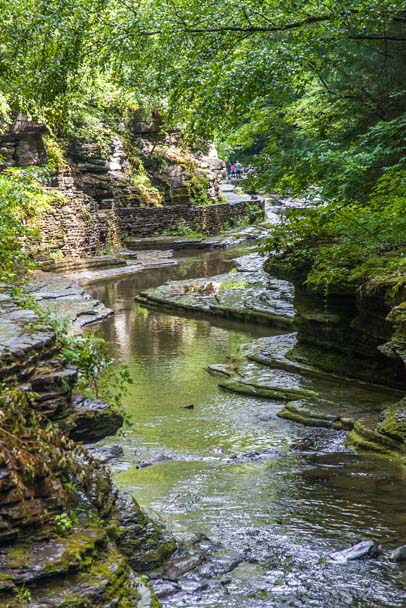 Stream in Watkins Glen State Park New York