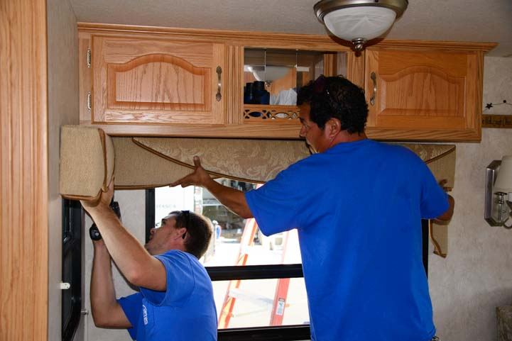 Installing valence on RV window