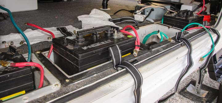 6 volt wet cell batteries in fifth wheel RV basement
