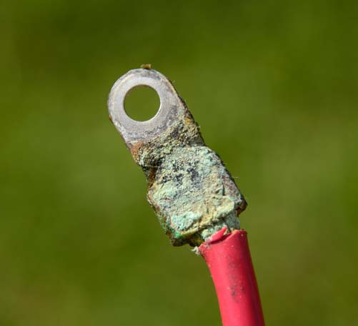 Corrosion on battery cable