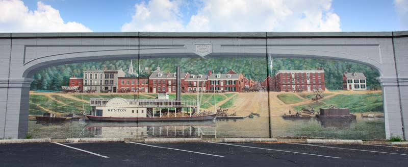 Maysville Kentucky Flood Wall Mural Paddleboat on the River 2