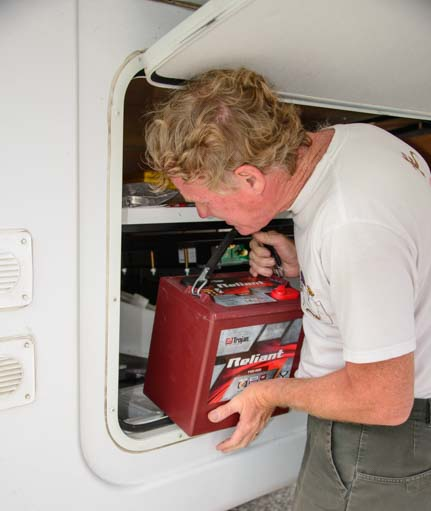 wet cell vs agm batteries rv wiring tips installing trojan 6 volt reliant agm battery in rv fifth wheel