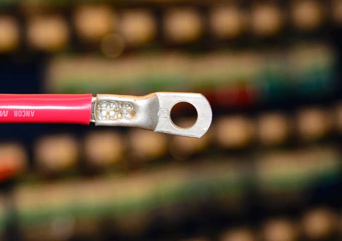 Good crimp on battery cable
