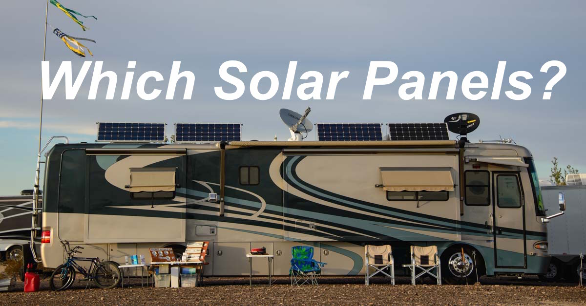 RV solar panel selection