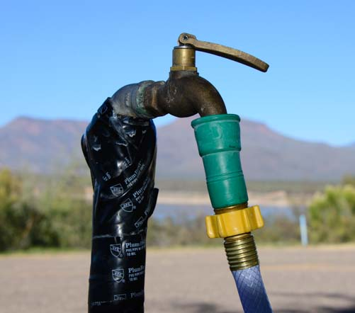 Water Bandit spigot adapter for RV fresh water at campgrounds