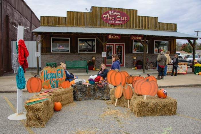 Welch OK Harvest Days Fall Festival pumpkins and hay bales