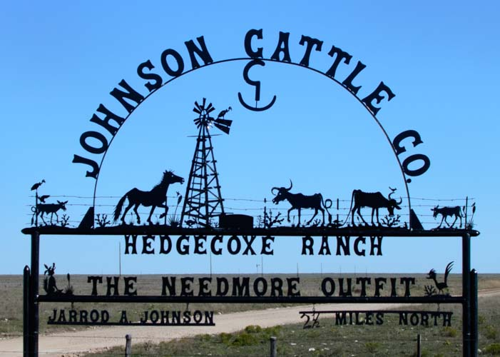 Johnson Cattle Ranch metal art Sign New Mexico