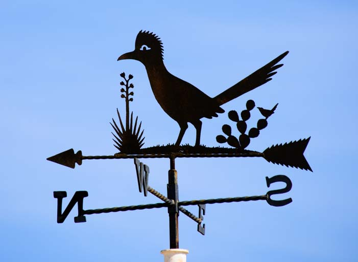 Metal art wind vane Tatum New Mexico