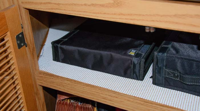Shelf liner for RV shelves