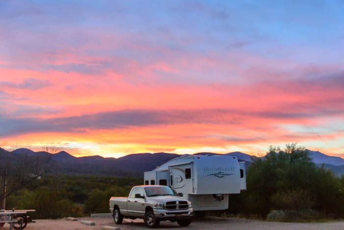Arizona sunset fifth wheel trailer RV