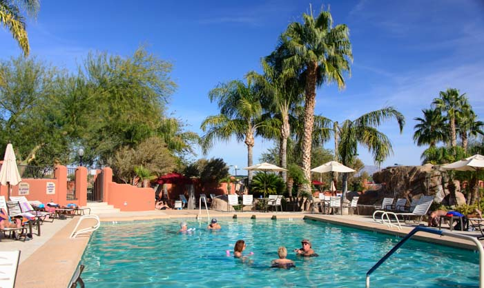 Swimming Pool Monte Vista RV Resort Arizona