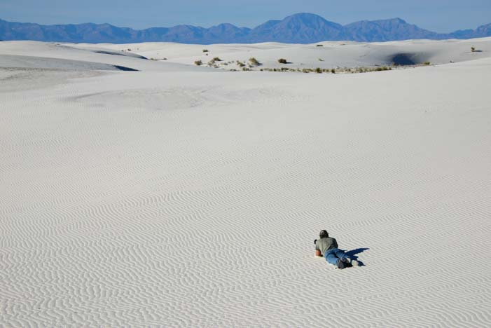 Camping at White Sands National Park New Mexico