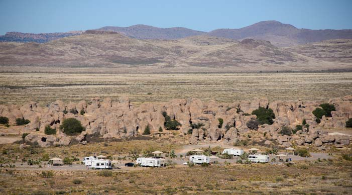 RV camping City of Rocks New Mexico