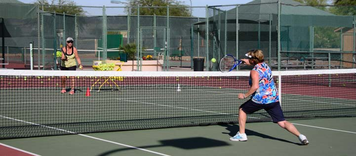 Monte Vista Village RV Resort Tennis Courts
