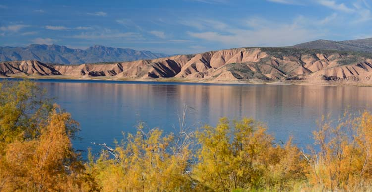 Autumn colors Roosevelt Lake Arizona