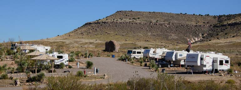 RV hookup campsites City of Rocks Campground New Mexico