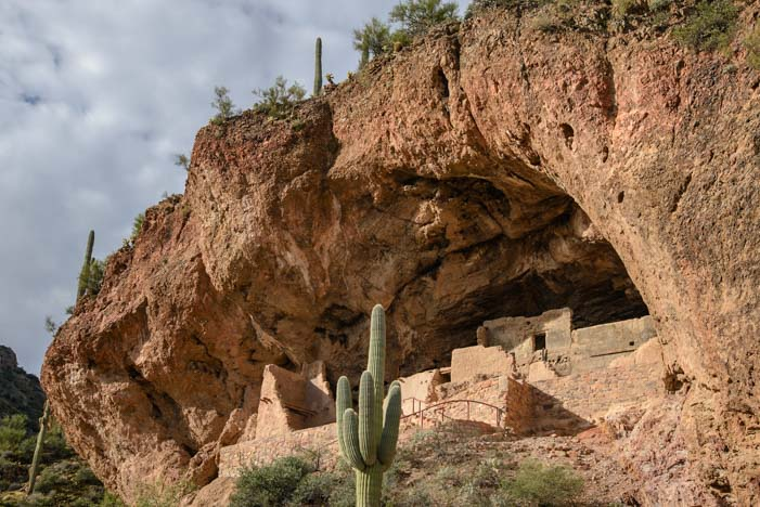 Cliff Dwellings Ancient Indian Ruins Tonto National Monument Arizona