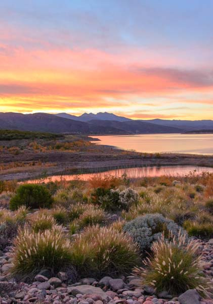 Roosevelt Lake sunset Arizona
