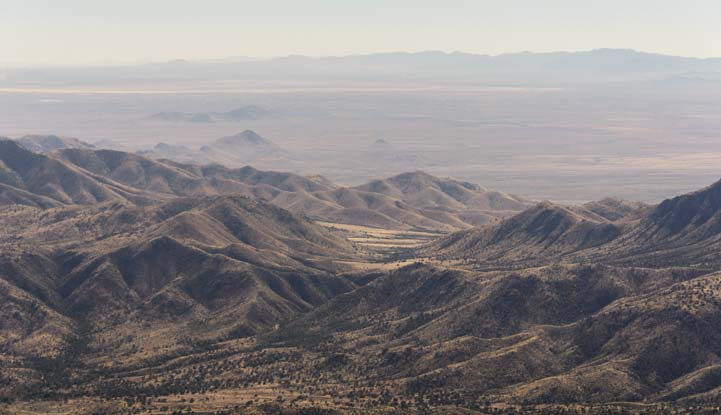 View from top of Mt. Graham Arizona