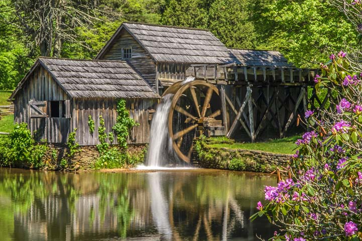 Mabry Mill Blue Ridge Parkway RV camping adventure
