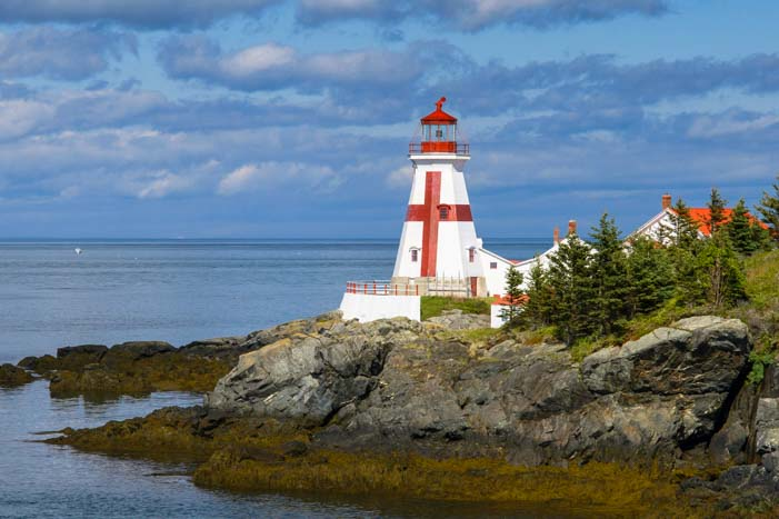 East Quoddy Lighthouse Campobello Island Canada travel by RV