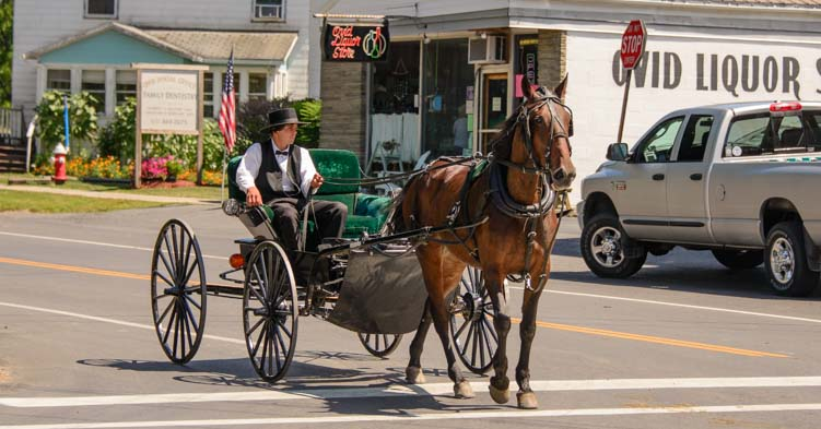 RV travel New York Finger Lakes Amish Country