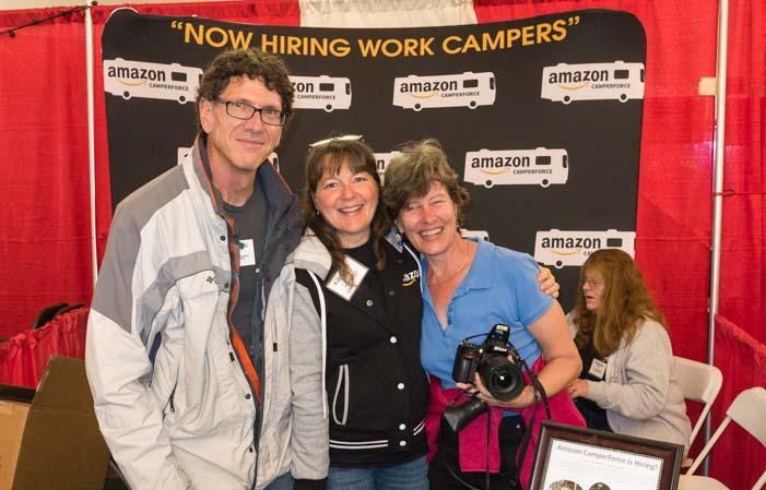 Amazon Camperforce RV Workamping booth Quartzsite RV Show