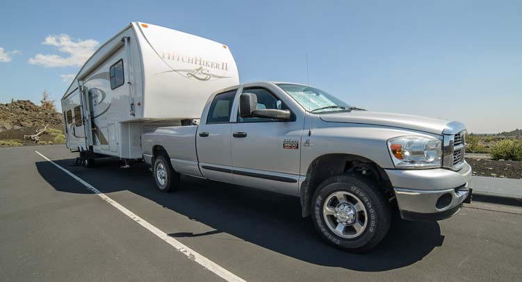 2007 Dodge Ram 3500 with 2007 36' Hitchhiker Fifth wheel Trailer