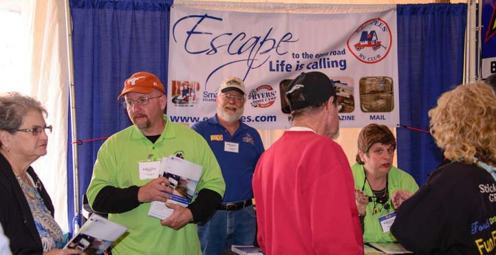 Escapees Booth Quartzsite Arizona RV Show