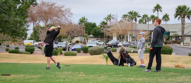 Golfing at ViewPoint RV & Golf Resort Mesa Arizona