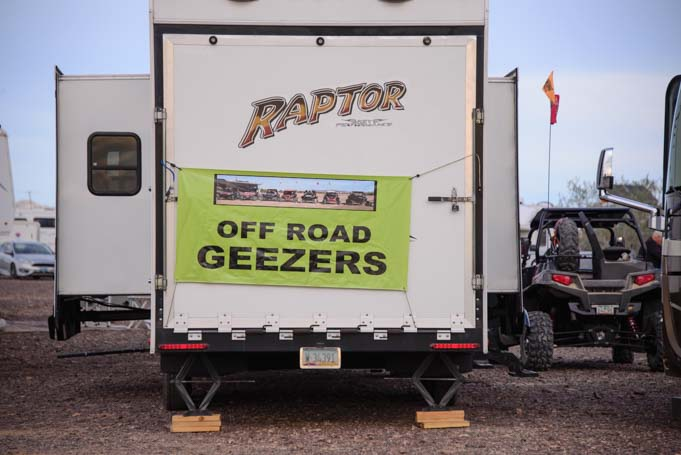 Off-Road Geezers RV rally Quartzsite Arizona