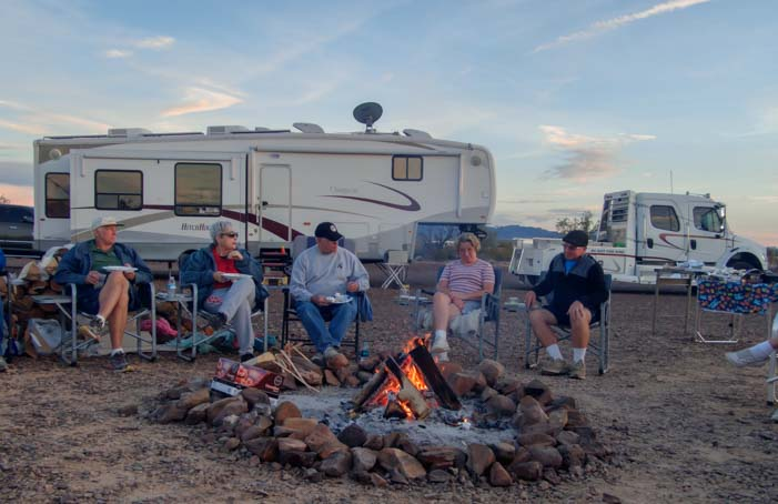Hitchhiker Fifth wheel RV rally Quartzsite Arizona