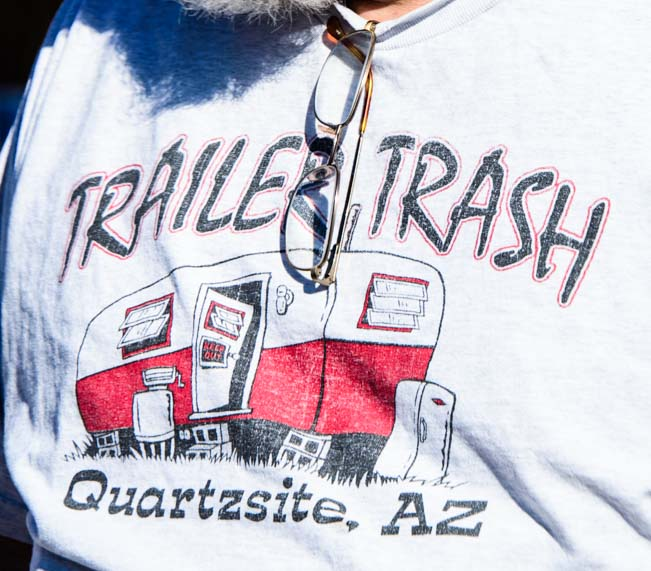 Trailer Trash t-shirt for RVer Quartzsite AZ