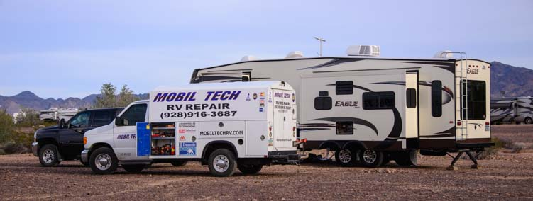 RV Mobile Tech repair for RVs and motorohomes Quartzsite Arizona