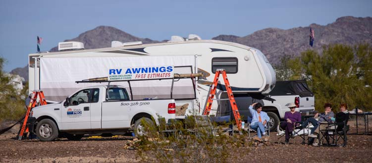 Mobile RV Awning Repair Quartzsite Arizona