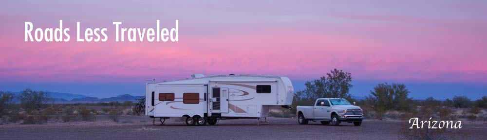 RV boondocking in Quartzsite Arizona desert