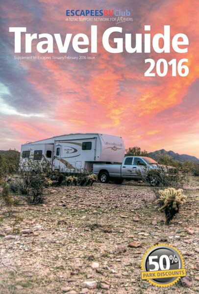 Escapees Travel Guide 2016 for RV Travelers