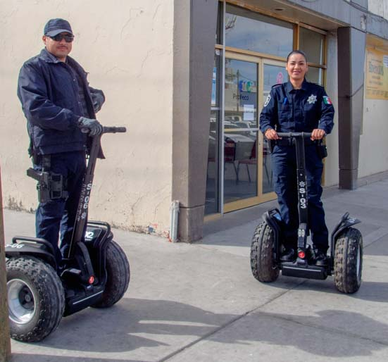 Police on Segways in San Luis Mexico