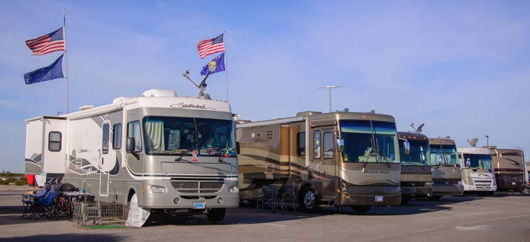 Motorhomes at Cocopah Casino Yuma Arizona