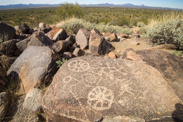 Petroglyphs at Signal Hill Saguaro National Park Tucson Mountains Arizona