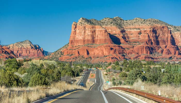 RV travel to Sedona Arizona red rock country