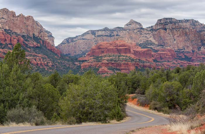 Red rock scenery in West Sedona Arizona