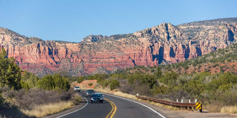 RV road trip and scenic drive Sedona Arizona