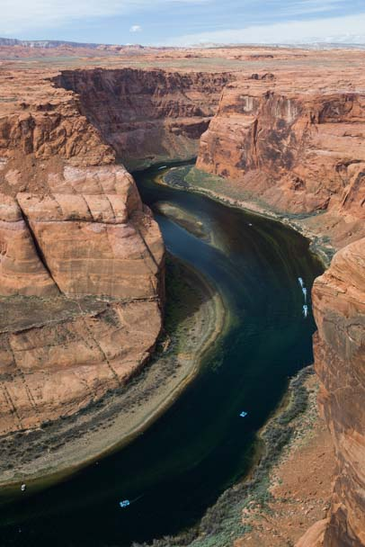 Colorado River rafters Horseshoe Bend Arizona