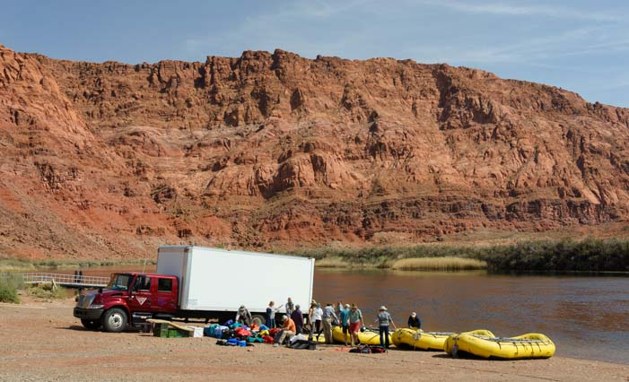 Colorado River Rafters headed to Grand Canyon