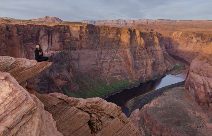 Horseshoe Bend Arizona Sitting on the RIm